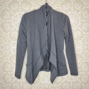 Lucy Open Grey Cardigan Sweater XS